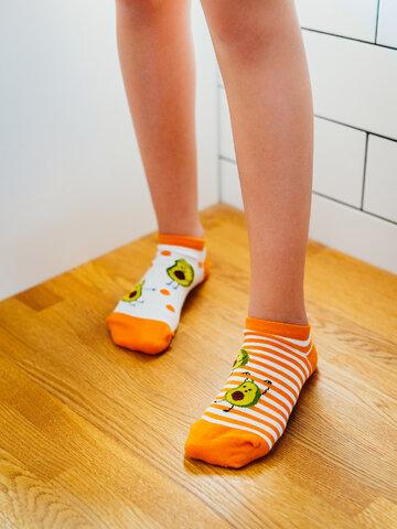 Výnimočný darček od Dedoles Veselé detské členkové ponožky Vtipné avokádo
