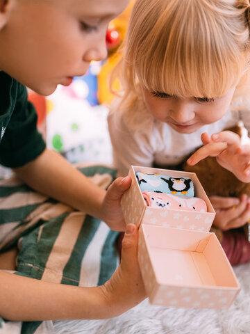 Tip na darček Darilna škatla za otroke Polarne živali