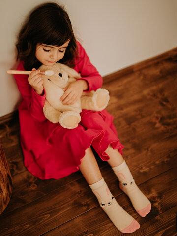 Lifestyle foto Calzini spessi per bambini Buonumore Coniglio