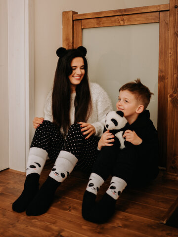 Výnimočný darček od Dedoles Весели топли детски чорапи Щастлива панда