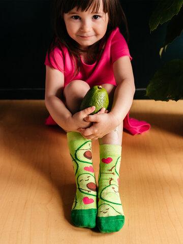 pro dokonalý a originální outfit Veselé dětské ponožky Avokádová láska
