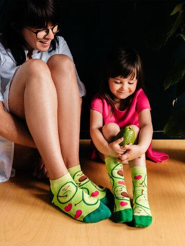 Sleva Veselé dětské ponožky Avokádová láska