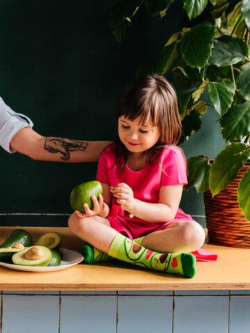 Výprodej Veselé dětské ponožky Avokádová láska