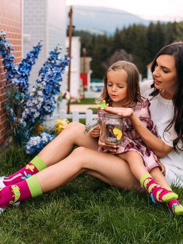 Výpredaj Veselé detské ponožky Chameleón
