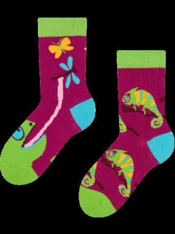 Potešte sa týmto kúskom Dedoles Veselé detské ponožky Chameleón