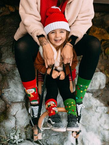 Pomysły na prezenty Wesołe skarpetki dziecięce Elfy