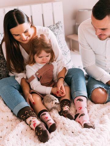 Pre dokonalý a originálny outfit Vesele dječje čarape Ježić