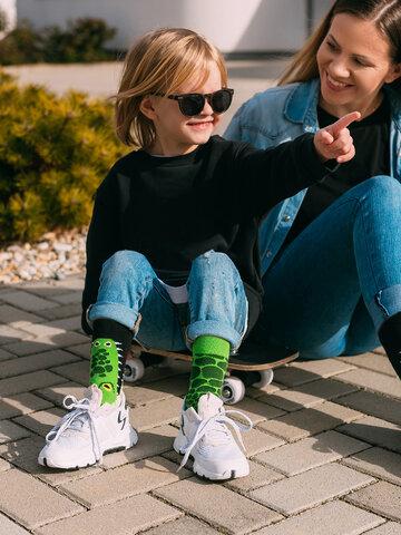 Lifestyle foto Veselé dětské ponožky Krokodýl