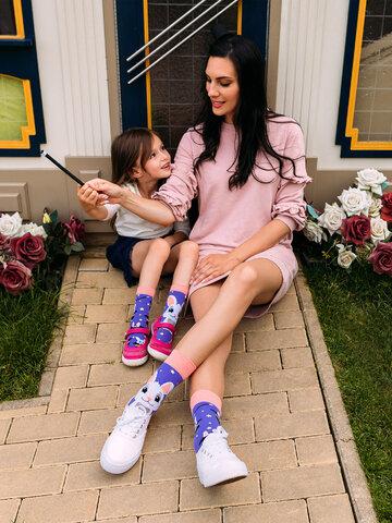 Lifestyle foto Veselé detské ponožky Kúzelný králiček