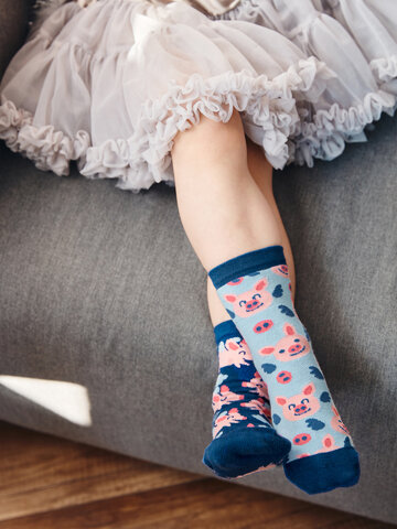 Original gift Kids' Socks Flying Pigs