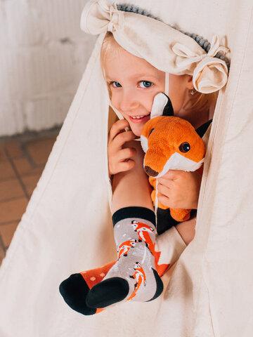 Foto Lustige Kindersocken Fuchs