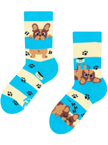Looking for an original and unusual gift? The gifted person will surely surprise with Kids' Socks Dogs & Stripes