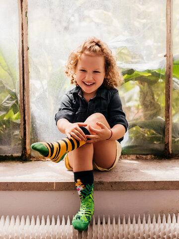 Výnimočný darček od Dedoles Živahne otroške nogavice Tiger