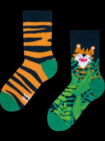 Pre dokonalý a originálny outfit Živahne otroške nogavice Tiger