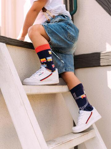 Výnimočný darček od Dedoles Veselé detské ponožky Vláčiky