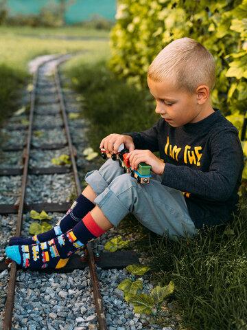 Tip na darček Veselé detské ponožky Vláčiky