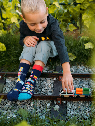 Obrázok produktu Veselé detské ponožky Vláčiky