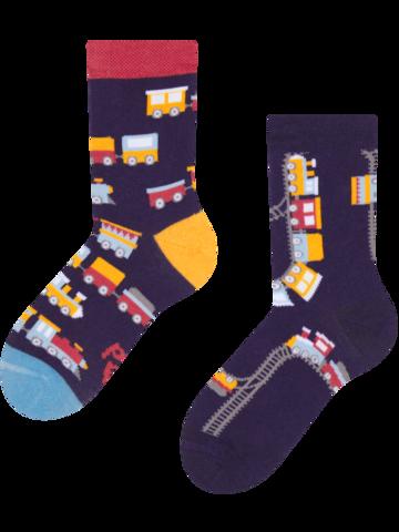 Pre dokonalý a originálny outfit Veselé detské ponožky Vláčiky