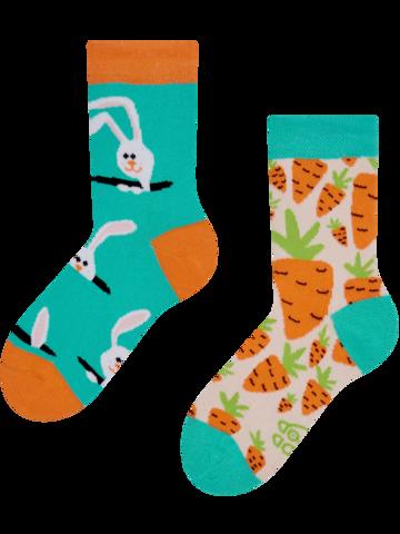 Zľava Živahne otroške nogavice Zajec in korenček