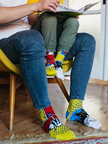 Potešte sa týmto kúskom Dedoles Calcetines infantiles alegres Cómics de colores
