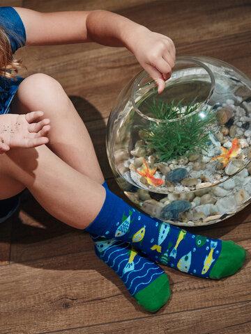 Geschenk von Dedoles Lustige Kindersocken Aquariumfische