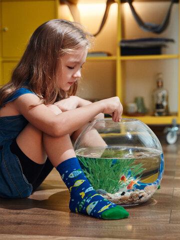 Geschenktipp Lustige Kindersocken Aquariumfische