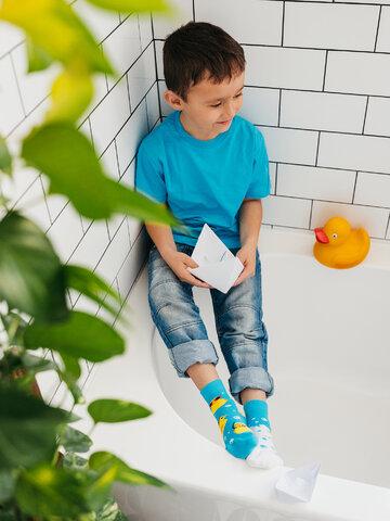 Căutați cadou unic și original? Va bucura enorm sărbătoritul Șosete  Vesele pentru copii Căpitanul Duck