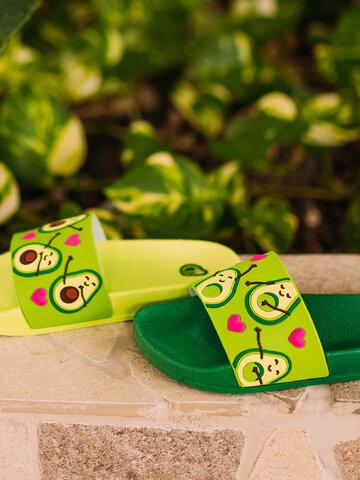 Foto Veselé dětské pantofle Avokádová láska