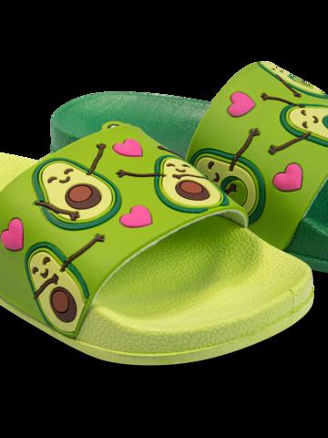 pro dokonalý a originální outfit Veselé dětské pantofle Avokádová láska
