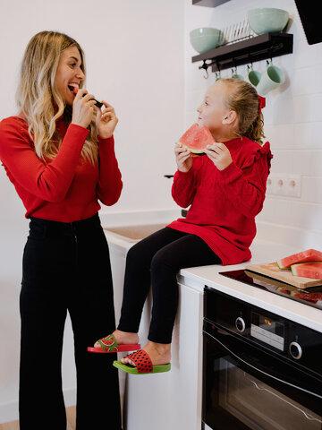 Obrázok produktu Veselé detské šľapky Červený melón