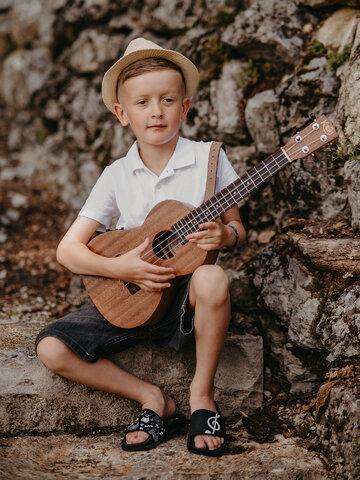 Lifestyle foto Veselé detské šľapky Hudba