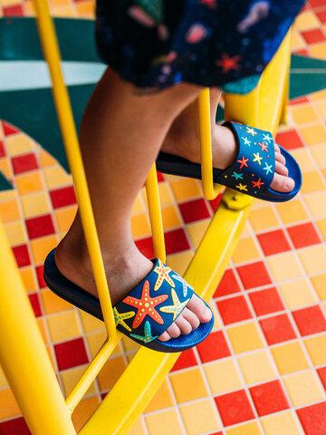 Foto Veselé dětské pantofle Mořská hvězda