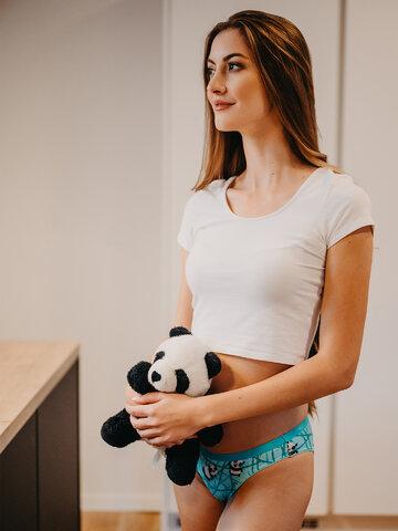 Pre dokonalý a originálny outfit Wesołe figi damskie Panda