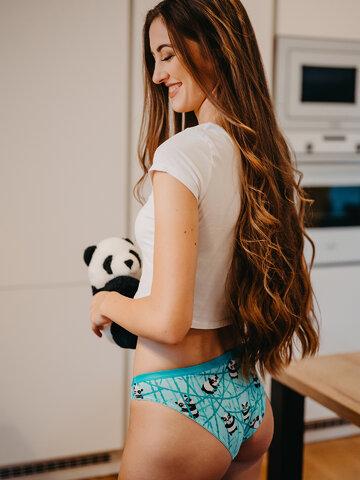 ZNIŻKA Wesołe figi damskie Panda