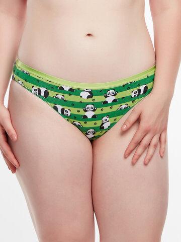 für ein vollkommenes und originelles Outfit Lustige Höschen für Frauen Panda und Streifen