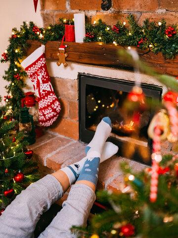 pro dokonalý a originální outfit Veselé teplé ponožky Polární medvěd