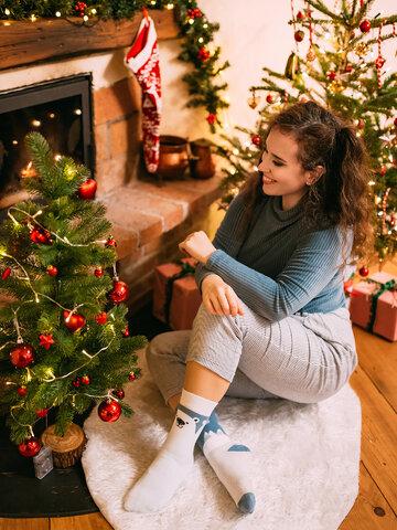 Potěšte se tímto kouskem Dedoles Veselé teplé ponožky Polární medvěd