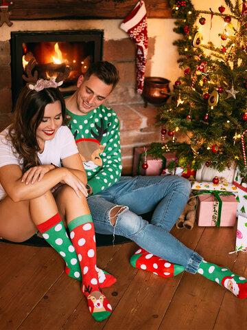 Výjimečný dárek od Dedoles Veselé teplé ponožky Santa a Rudolf