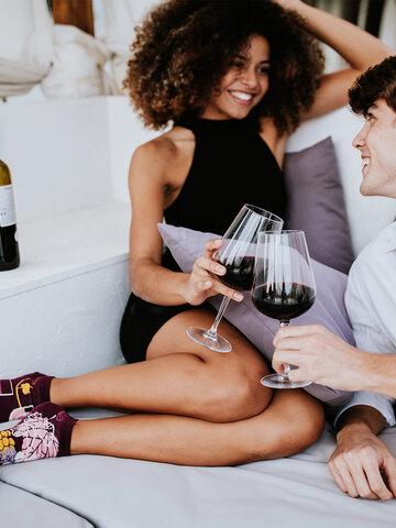 Zľava Calcetines tobilleros alegres Vino tinto