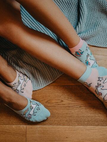 Pre dokonalý a originálny outfit Socquettes rigolotes Licorne arc-en-ciel