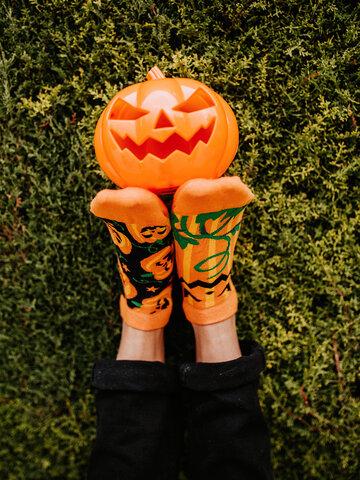 Obrázok produktu Весели къси чорапи Хелоуинска тиква