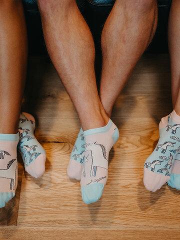 Foto Veselé kotníkové ponožky Jednorožec