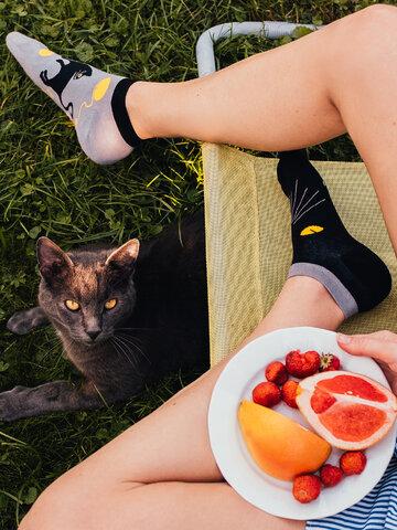 Reducerea Șosete  vesele sub gleznă Ochi de pisică
