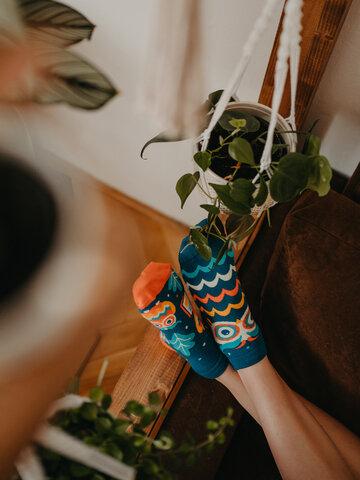 Výprodej Veselé kotníkové ponožky Moudrá sova