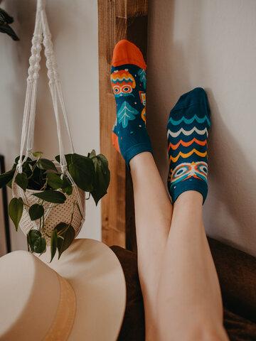 Sleva Veselé kotníkové ponožky Moudrá sova