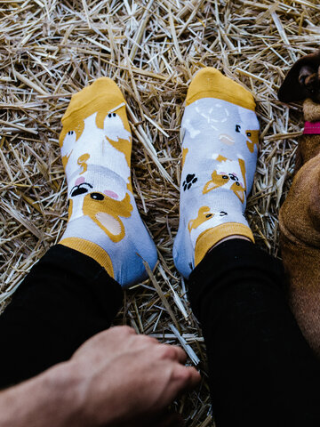 Ausverkauf Lustige Knöchelsocken Corgi-Hund