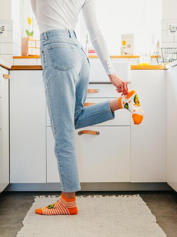 Pre dokonalý a originálny outfit Veselé členkové ponožky Vtipné avokádo