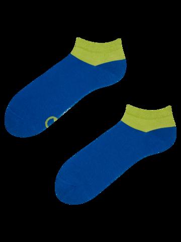 Hledáte originální a neobvyklý dárek? Obdarovaného zaručeně překvapí Modro-zelené kotníkové ponožky Symfonie