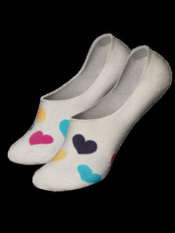 Ausverkauf Lustige No-Show-Socken Bunte Herzen