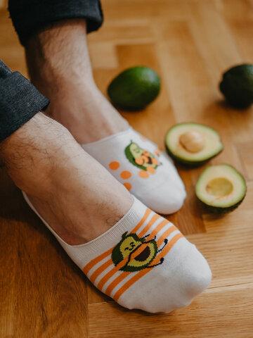 Pre dokonalý a originálny outfit Vesele niske stopalice Smiješni avokado
